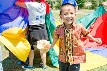 Habitat kid enjoys Fun Day.