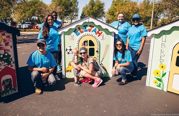 Businesses Build Playhouses with Habitat