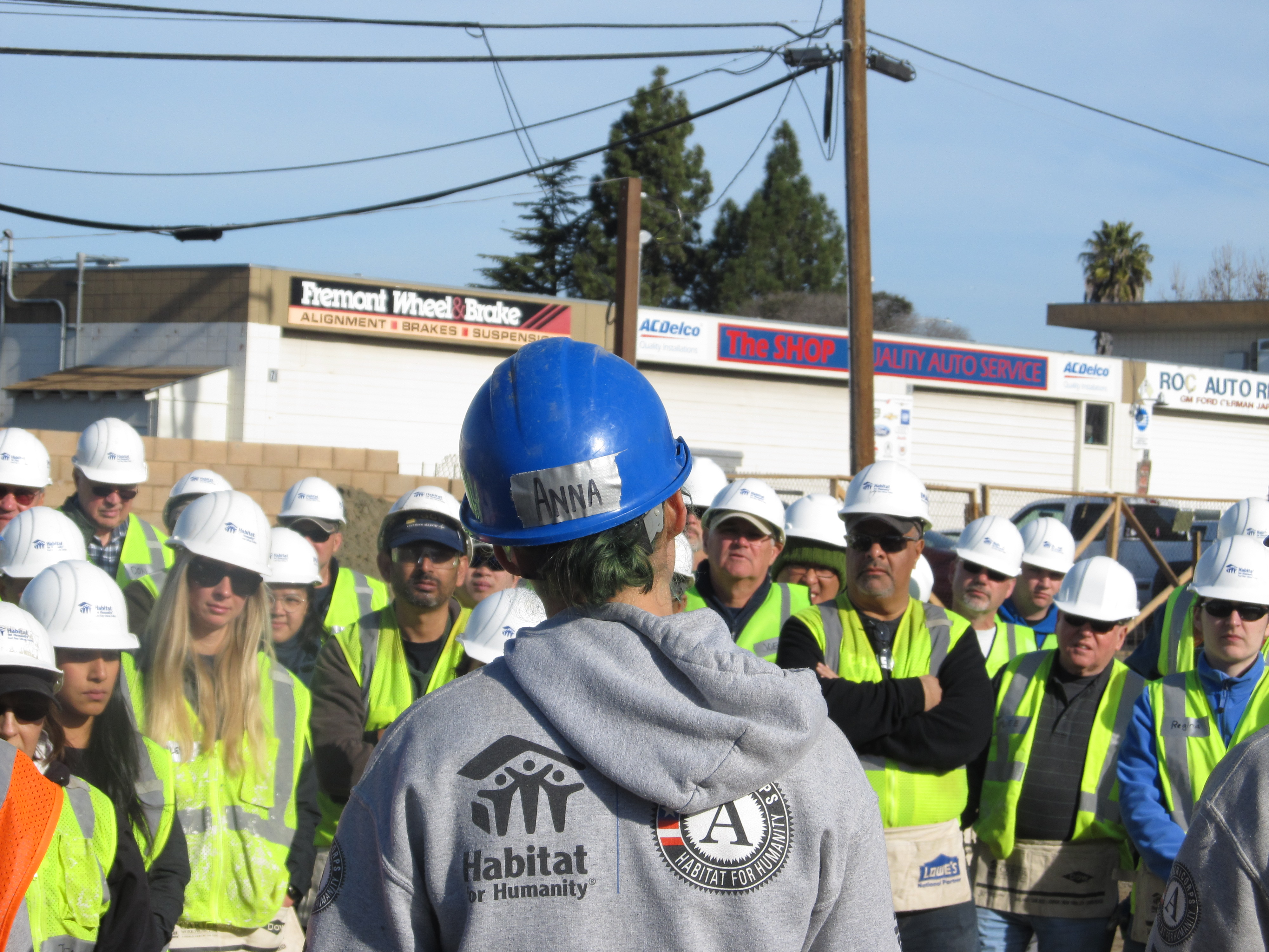 AmeriCorps Lead Volunteers On the Construction Site