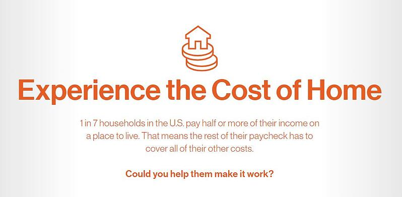 Experience the cost of home