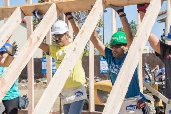 Companies Volunteers Build Homes