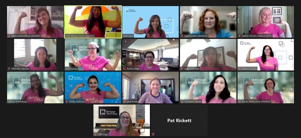 Women Volunteers at Women's Leadership Build